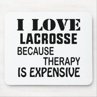 Tapis De Souris J'aime la lacrosse puisque la thérapie est chère