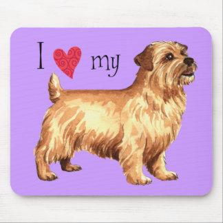 Tapis De Souris J'aime la ma Norfolk Terrier