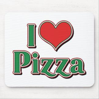 Tapis De Souris J'aime la pizza de coeur