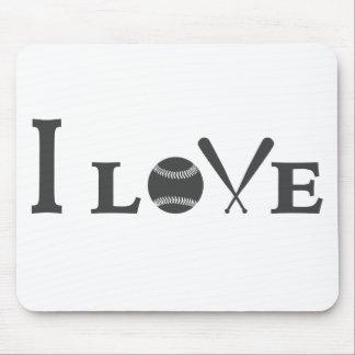 Tapis De Souris J'aime le base-ball