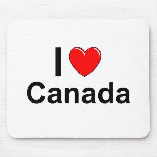 Tapis De Souris J'aime le coeur Canada