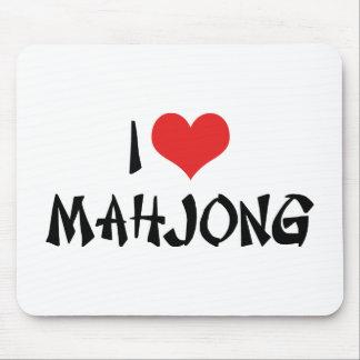 Tapis De Souris J'aime le coeur Mahjong - amant