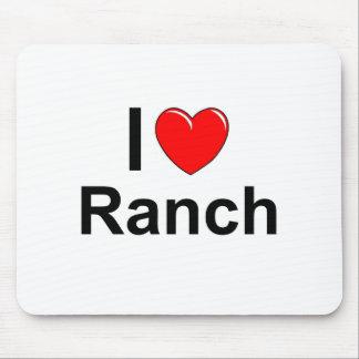 Tapis De Souris J'aime le ranch de coeur