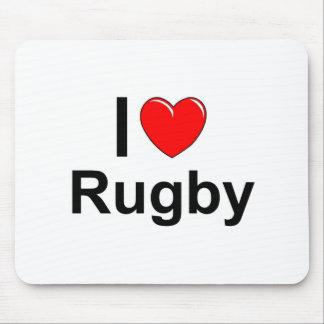 Tapis De Souris J'aime le rugby de coeur