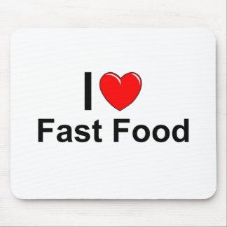 Tapis De Souris J'aime les aliments de préparation rapide de coeur