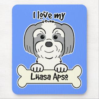 Tapis De Souris J'aime Lhasa Apso