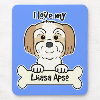 Tapis De Souris J'aime ma Lhasa Apso