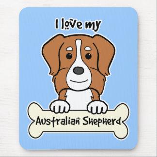 Tapis De Souris J'aime mon berger australien