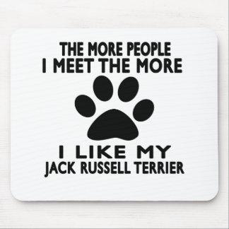 Tapis De Souris J'aime mon chien terrier de Jack Russell