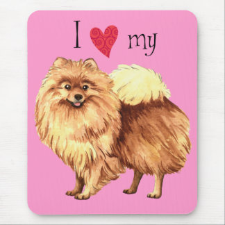 Tapis De Souris J'aime mon Pomeranian
