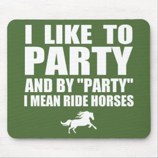 Tapis De Souris J'aime Party (les chevaux de tour)