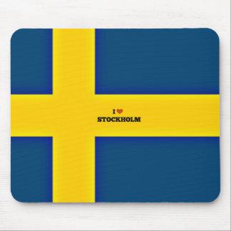 Tapis De Souris J'aime Stockholm