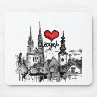 Tapis De Souris j'aime Zagreb