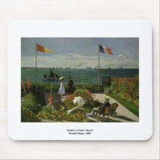 Tapis De Souris Jardin au saint Adresse par Claude Monet
