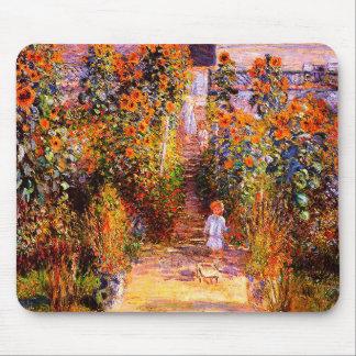 Tapis De Souris Jardin de Claude Monet-Monet chez Vétheuil