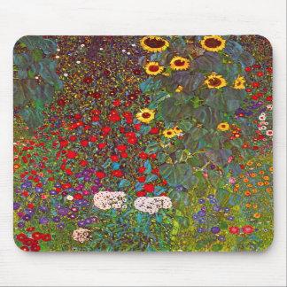 Tapis De Souris Jardin de ferme de Gustav Klimt avec le tapis de