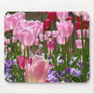 Tapis De Souris Jardin de tulipe