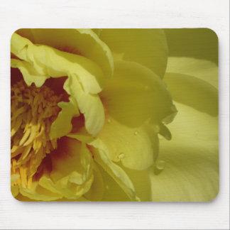 Tapis de souris jaune de pivoine