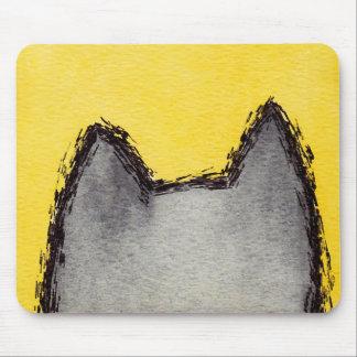 Tapis De Souris Jaune Mousepad de minou d'art de bruit