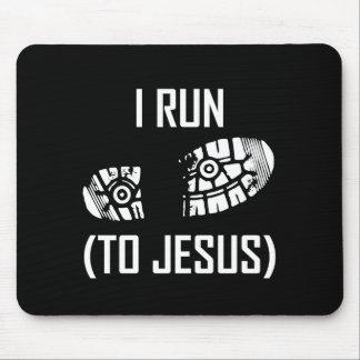 Tapis De Souris Je cours à Jésus