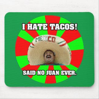 Tapis De Souris Je déteste des tacos