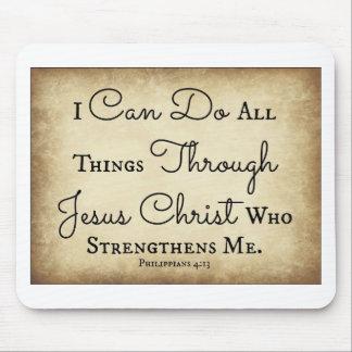 Tapis De Souris Je peux faire tout des choses par le Jésus-Christ