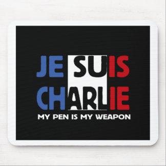 Tapis De Souris Je Suis Charlie mon stylo est mon arme