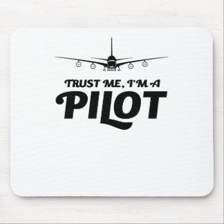 Tapis De Souris Je suis un pilote
