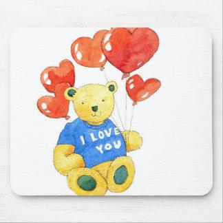 Tapis De Souris Je t'aime ours - ballon 2011