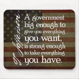 Tapis De Souris Jefferson : Prenez garde du grand gouvernement