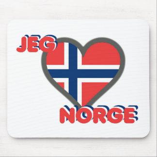 Tapis De Souris Jeg Elsker Norge (amour Norvège d'I)