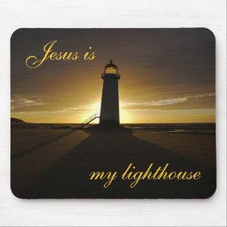 Tapis De Souris Jésus est mon phare