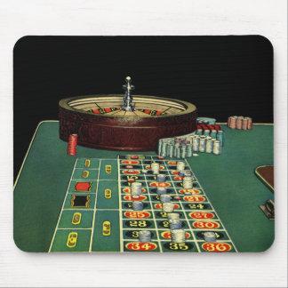 Tapis De Souris Jeu vintage de casino de Tableau de roulette,