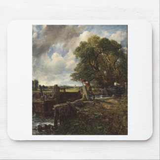 Tapis De Souris John Constable - la serrure - paysage de campagne