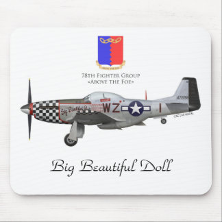 "Tapis De Souris John Lander's P-51 ""Big Beautiful Doll"""