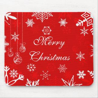 Tapis De Souris Joli mousepad de Noël avec des flocons de neige