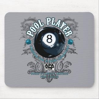 Tapis De Souris Joueur 8-Ball en filigrane de piscine