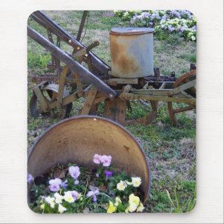 Tapis De Souris jusqu'à et fleurs