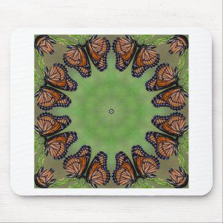 Tapis De Souris Kaléidoscope glorieux de papillon de monarque