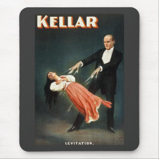 Tapis De Souris Kellar la lévitation de magicien - annonce vintage