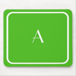Tapis De Souris Kelly bon marché Mousepad vert avec le monogramme