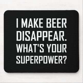 Tapis De Souris La bière disparaissent la superpuissance
