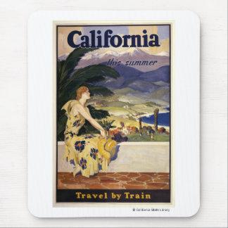 Tapis De Souris La Californie cet été. Voyage par chemin de fer