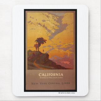 Tapis De Souris La Californie. Terre des vacances de l'Amérique