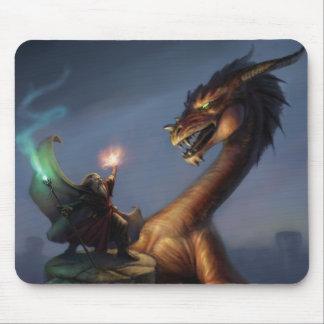 Tapis De Souris La défense de magicien - dragon et magicien