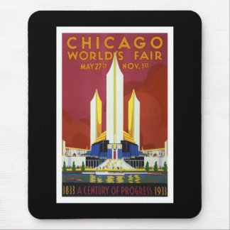"""Tapis De Souris La """"Exposition universelle, Chicago, 1933"""" crus"""