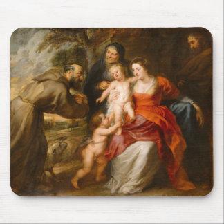 Tapis De Souris La famille sainte avec des saints