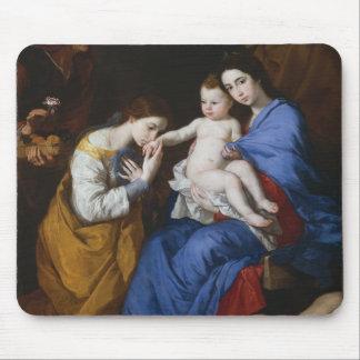 Tapis De Souris La famille sainte avec des saints Anne et