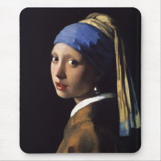 Tapis De Souris La fille avec la boucle d'oreille de perle par