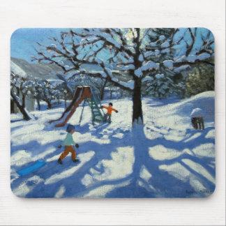 Tapis De Souris La glissière en hiver Bourg St Moritz